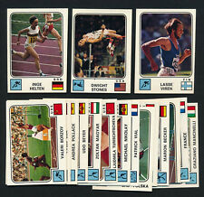 Lot x18 1976 Panini Goofy Sport OLYMPIC CARDS Track Swimming Gymnastics Vintage