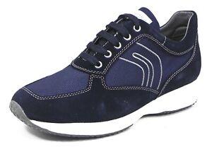 Geox Scarpa uomo casual U Happy scamosciato+tessuto Blu Sneakers U4162GC4064 P/e