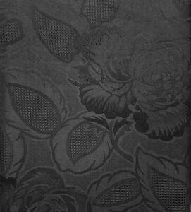 BLACK Damask Rose Tablecloths & Napkins *Beautiful Traditional Design* Many Size
