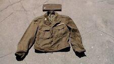 "WW2 - Korean War era Dress Uniform ""IKE"" Jacket & Overseas Garrison Flat Cap"