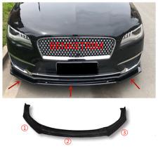 Fit For Lincoln MKZ 2017-2019 Bright black Front Bumper Lip Cover Trim 3PCS