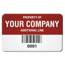 6mil polyester asset tags/ property tags/ inventory tags (pack of 100)