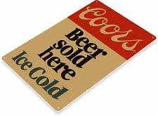 Coors Beer Sold Here Retro Tin Metal Sign