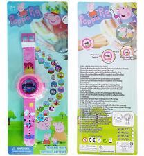 NEW DESIGN PEPPA PIG KID CHILD ELECTRONIC DIGITAL DISPLAY WRIST WATCH PROJECTOR
