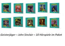?  10 CDs Geisterjäger John Sinclair - Hörbücher Paket Sammlung Tonstudio Braun