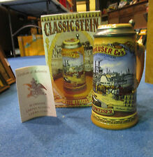 1991 ANHEUSER BUSCH CLASSIC EDITION BEER STEIN NEW IN BOX WITH COA