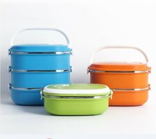 Multiple Layered Stainless Steel Insulated Bento Lunch Box Food Container