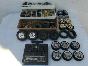 Vintage Tamiya RC Junk Lot Used Spares Ford Ranger Wheels & Tyres Etc.