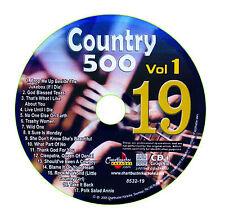 KARAOKE CHARTBUSTER CD+G COUNTRY 500 CB8532 VOL.1 DISC # 19