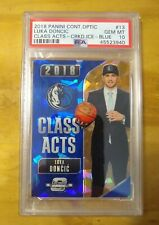 2018 Contenders Optic Class Acts #13 Luka Doncic Blue Ice PSA 10 - Pop 11