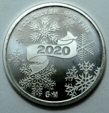 RC16860 1oz .999 Silver BarSanta ClausBarHoliday MedalMerry Xmas