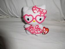 "Ty Hello Kitty Beanie Babies 2013 Pink Heart Dress 6"" Tall"