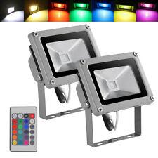 2 x10W LED RGB Flood Light Spotlight Color Changing Outdoor Garden Christmas