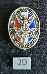 Vintage Type 2d Sterling Silver Eagle Boy Scout Hat Pin Medal Award Rank
