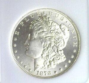 1878-S MORGAN SILVER DOLLAR GEM++ UNCIRCULATED BEAUTIFUL COIN!! RARE THIS NICE!!