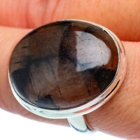 Large Chiastolite 925 Sterling Silver Ring Size 9.25 Ana Co Jewelry R37983F