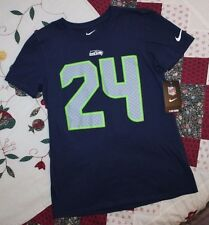 Nike Tee Womens S Seattle Seahawks Marshawn Lynch 24 Blue Football Jersey d6c336d7c