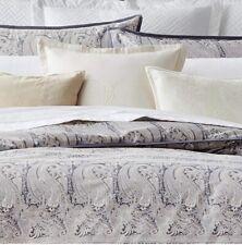 $260 Ralph Lauren Mariella Paisley Standard Shams Set of 2 Grey Multi Cotton NIP