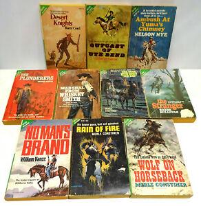 ACE Double Western Cowboy Vintage Book Lot of 10 Paperback Novels #4