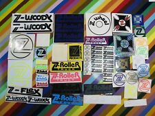 vtg 1970s Z Flex skateboards sticker - Roller, Rocket, Zebra, Wheels, logos