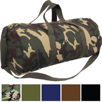 "Tactical Canvas Duffle Bag 24"" x 12"" Camo Army Gym Recreational Travel Work"