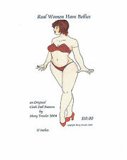 """*NEW* CLOTH ART DOLL (E-PATTERN) """"REAL WOMEN HAVE BELLIES"""" BY MARY TRESSLER"""