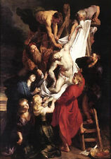 Art oil painting Peter Paul Rubens - Christ Jesus Descent from the Cross canvas