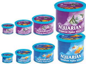 Aquarian Tropical fish / Goldfish Flake food, NOT A REFILL, GENUINE, SEALED