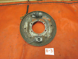 Triumph TR6,TR250, Left Rear Brake Backing Plate Complete c/ Lever Extender,GC!!