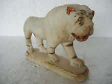 Old Very Fine Quality Marble Lion Figure Toy, Golden Work