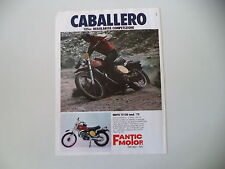 advertising Pubblicità 1976 MOTO FANTIC CABALLERO 125 RC MOD. TX 150