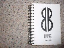 Bill Blass FALL 2002 RUNWAY FASHION SHOW CATALOG Mini Anden Karolina Kurkova