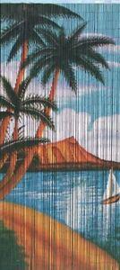 Natural Bamboo Beaded Curtain Palm Beach Serenity Beads Window Doors Divider