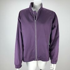Footjoy Womens Full Zip Lightweight Golf Shell Wind Jacket Purple - Size Medium