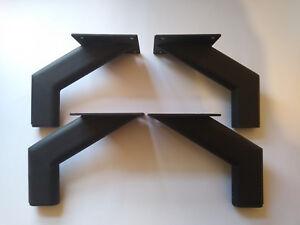 4x PRE FIX BLACK MATT METAL  REPLACEMENT FURNITURE FEET/ LEGS SOFA, BEDS, CHAIRS