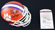 BRIAN DAWKINS Clemson Tigers Signed Mini Helmet JSA Auto - Go Tigers Inscribed
