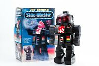 VINTAGE 80's SPACE TOY ROBOT JET SMOKE STAR MASTER Battery operated CHINA 12''