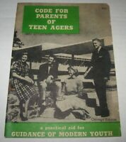 Vintage 1950's Code for Parents of Teen Agers Booklet Chicago Graphic House MCM