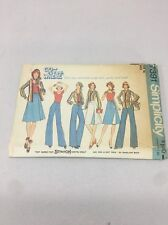 Simplicity Pattern 7391 Low Round Neck Stretch Top Wrap Skirt Blouse Pants 14