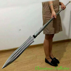 ZhaoYun Overlord gun spear Hand Forged High manganese steel blade sharp #0021
