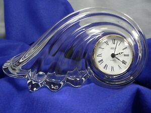Mikasa Glass Clock Clearwater German Quartz Movement Second Minute Hour hands