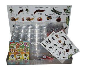 Group Bug hunting Set 80 Pieces Inc Magnifying Bug Pots,Bug Cards & Case