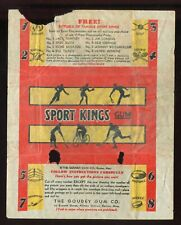 "1933 Goudey Baseball ""Sport Kings Gum"" Wax Pack Wrapper RARE #4 PR"