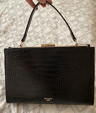 DUNE LONDON Hand Bag Purse Black & Gold