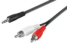 3m Klinke Cinch AUX Audio Kabel 3,5mm Klinkenstecker auf 2* Chinch RCA Stecker