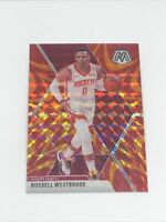Russell Westbrook 2019-20 Panini Mosaic Orange Reactive Prizm SP #134 Rockets