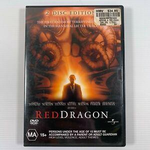 Red Dragon (DVD 2003 2 disc edition) Anthony Hopkins Region 4