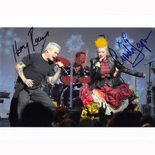 Henry Rollins & Cyndi Lauper (72055) - Autographed In Person 8x10 w/ COA