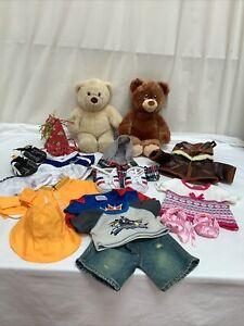 Build A Bear Clothes Outfits & 2 Bears - Bundle Joblot VGC