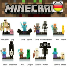 16Pcs Minecraft My World Characters MiniFiguren Bausteine Fit Lego Spielzeuge DE